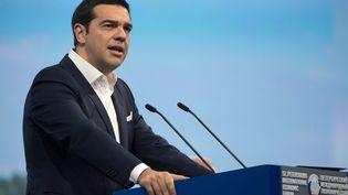 Alexis Tsipras, le Premier ministre grec, à Saint-Petersbourg (Russie), le 19 juin 2015. (SERGEY GUNEEV / RIA NOVOSTI / AFP)