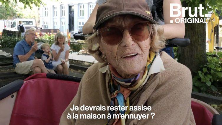 VIDEO. À 99 ans, elle profite de balades à vélo grâce à une association (BRUT)