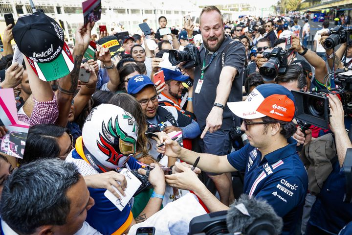 Sergio Perez, superstar dans son pays, est très attendu par le public mexicain. (FLORENT GOODEN / DPPI MEDIA)
