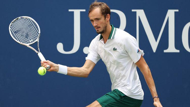 Daniil Medvedevimpressionne sur les courts de l'US Open. (AL BELLO / GETTY IMAGES NORTH AMERICA)