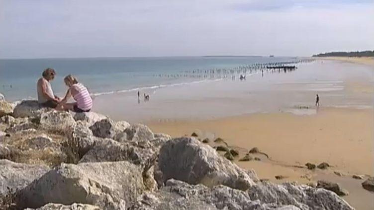 La plage de la Gautrelle sur l'île d'Oléron (Charente-Maritime), le 20 août 2012. (FTVI / FRANCE 2)