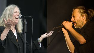 Patti Smith et Thom Yorke  (Geoff Pugh/REX Shutters/SIPA - AFP PHOTO/PATRICIA DE MELO MOREIRA)