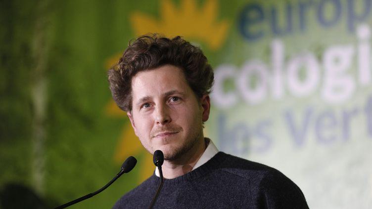 Julien Bayou,secrétaire national d'Europe Ecologie-Les Verts, aucongrès du parti à Saint-Denis, le 30 novembre 2019. (GEOFFROY VAN DER HASSELT / AFP)