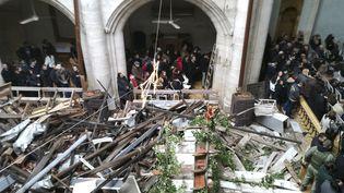 Une messe de Noël est célébrée à Alep (Syrie), le 25 décembre 2016. (AK / SIPA / EFE)
