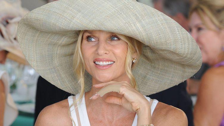 L'actrice américaine Nicollette Sheridan lors d'un match de polo à Santa Barbara, en Californie, le 9 juillet 2011. (FD / MAXPPP)