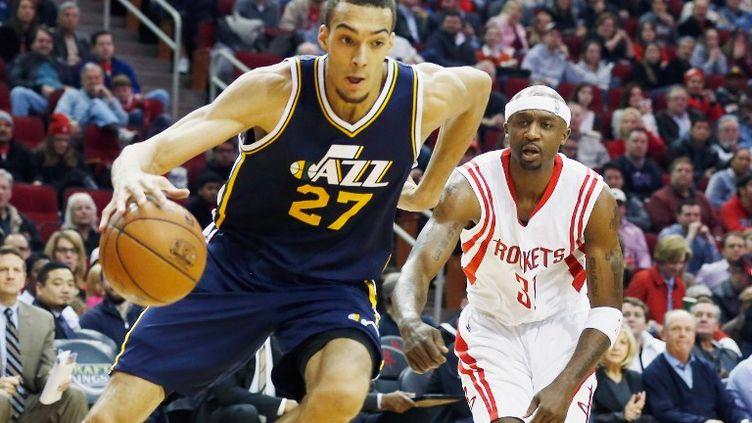 Le pivot français de Utah, Rudy Gobert, a réalisé une deuxième partie de saison NBA 2014-2015 exceptionnelle. (SCOTT HALLERAN / GETTY IMAGES NORTH AMERICA)