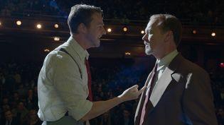 "Edward Norton et Michael Keaton dans ""Birdman"".  (2014 Twentieth Century Fox)"