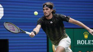 Stefanos Tsitsipas face à Andy Murray au premier tour de l'US Open. (TIMOTHY A. CLARY / AFP)