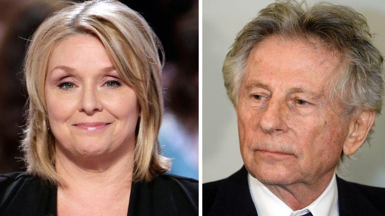 L'ancienne actrice Samantha Geimer et le réalisateur Roman Polanski. (KENZO TRIBOUILLARD / JANEK SKARZ / AFP)