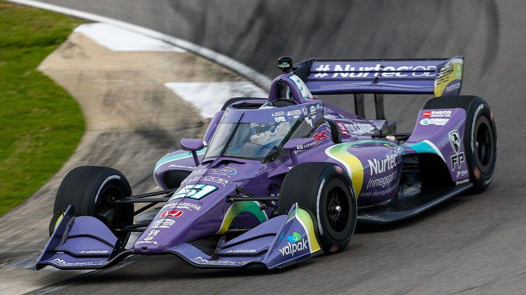 Romain Grosjean a renoué avec la compétition automobile en Indycar au GP de Barber le 18 avril 2021 (Dale Coyne Racing) (JAKE GALSTAD / LAT)
