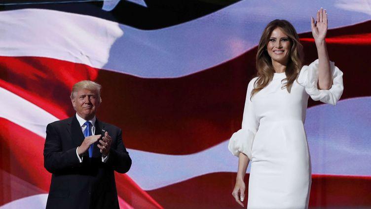 (Melania Trump, la femme du milliardaire, a été mise en avant lors de cette première journée de la convention républicaine © Carolyn Kaster/AP/SIPA)