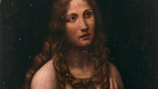 """Gian Giacomo CAPROTTI dit SALAÌ, """"La Madeleine pénitente"""" (détail), vers 1515-1520 Panneau de bois tendre Estimation : 100 000 - 150 000 € (ARTCURIAL)"""