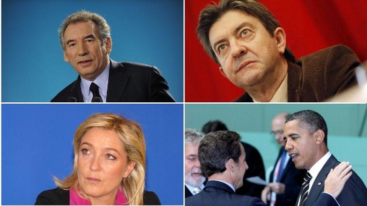 Expressions du visage ou mouvements répétés, la gestuelle des candidats veut dire beaucoup. (SIPA / MONTAGE FTVI)