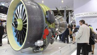 Un moteur développé par Safran pour le C919, présenté au salon du Bourget 2017. (PIERRE VERDY / AFP)