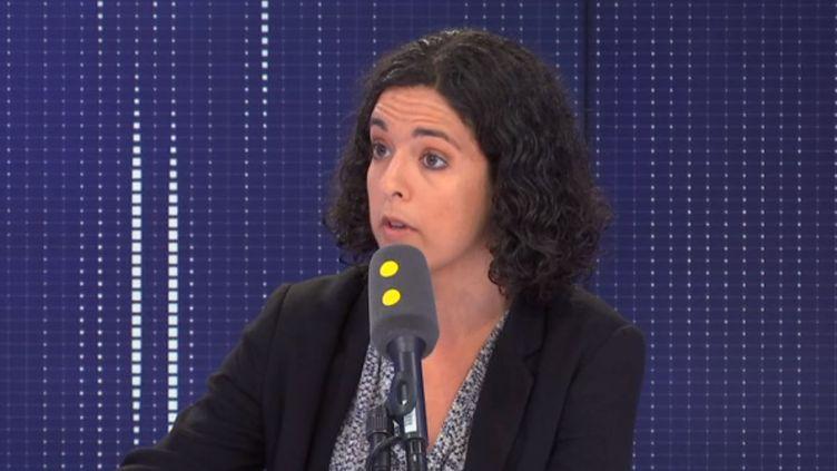 Manon Aubry, députée européenne La France insoumise, était l'invitée de franceinfo le jeudi 10 octobre 2019 (FRANCEINFO / RADIOFRANCE)