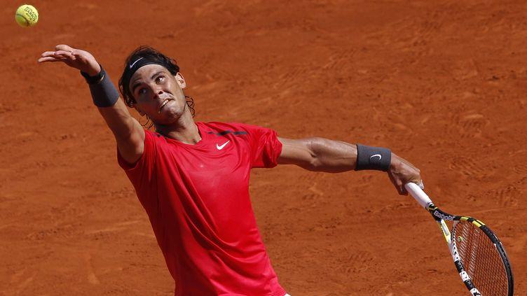 Le n°2 mondial Rafael Nadal,mardi 29 mai 2012 au tournoi deRoland-Garros. (PATRICK KOVARIK / AFP)