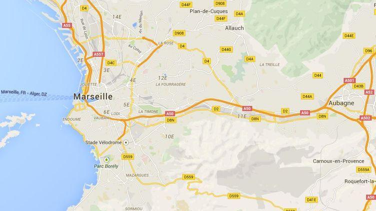 Une fusillade a éclaté dimanche 26 avril 2015dans le quartier du Canet, dans le 14e arrondissement de Marseille (Bouches-du-Rhône). (GOOGLE MAPS / FRANCETV INFO)