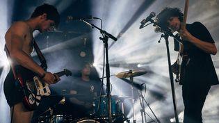 Le trio rock Lysistrata, ici aux Solidays fin juin  (DENIS MEYER / HANS LUCAS)