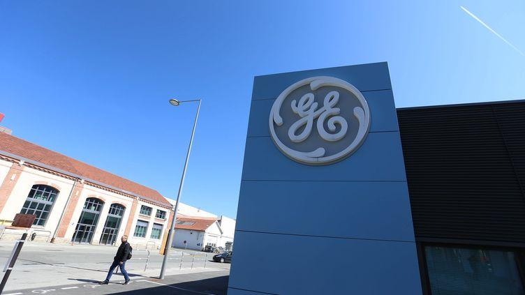 Usine de Belfort le 9 septembre 2015, après le feu vert de la commission européenne pour le rachat de la branche énergie d'Alstom par le géant américain General Electric (MAXPPP)