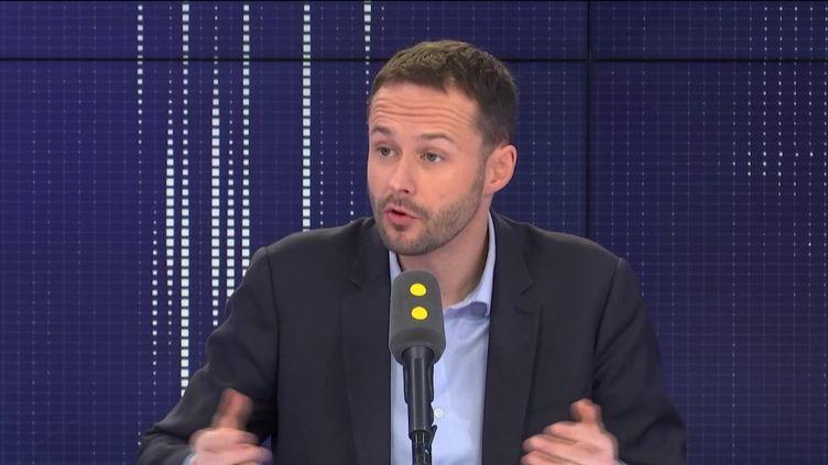 David Belliard, candidat écologiste pour la mairie de Paris, sur franceinfo. (FRANCEINFO / RADIOFRANCE)
