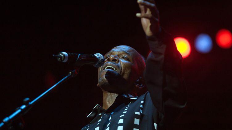 Le chanteur et guitariste sud-africain Ray Phiri (le 26 décembre 2006 à Durban, Afrique du Sud)  (Rajesh Jantilal / AFP)