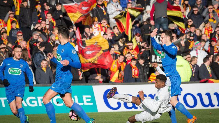 La Coupe de France a donné lieu à un derby du nord Lens-Wasquehal haut en couleurs  (SEVERINE COURBE / MAXPPP)