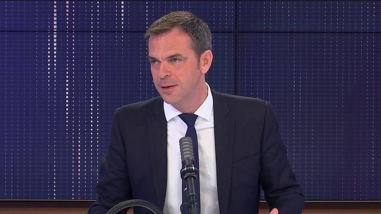 Olivier Véran, ministre de la Santé, vendredi 30 avril 2021 sur franceinfo. (FRANCEINFO / RADIO FRANCE)