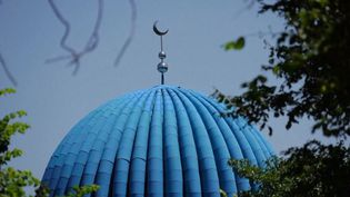 Le toit d'une mosquée dans la province du Xinjiang, en Chine. (FRANCE 2)