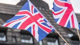 Des drapeaux du Royaume-Uni, le 1 août 2019. (NICOLAS ECONOMOU / NURPHOTO / AFP)