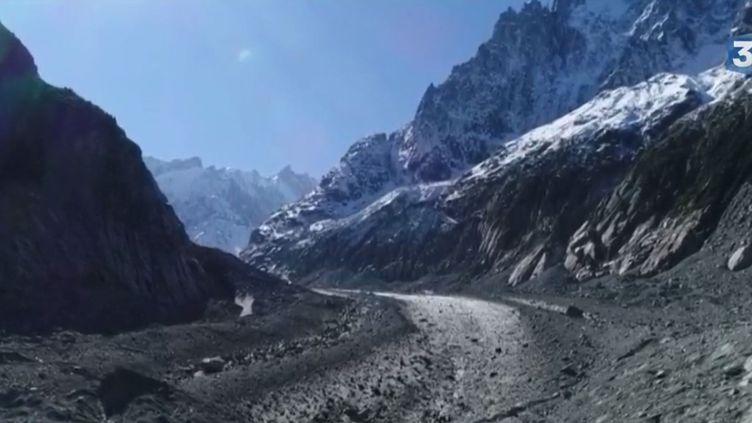 La Mer de Glace, dans les Alpes. (FRANCE 3)