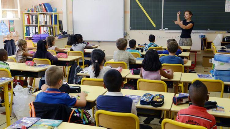 (© Maxppp - Une classe de CE2 à la rentrée des classes.)