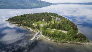 L'île norvégienne d'Utøya, le 22 juillet 2011. (MEEK, TORE / NTB SCANPIX MAG / AFP)