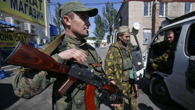 (Séparatistes prorusses dans la région de Donetsk © REUTERS / Maxim Shemetov)