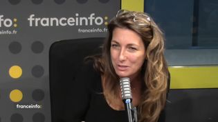 Anne-Claire Coudray, présentatrice des journaux du week-end sur TF1. (CAPTURE ECRAN / FRANCEINFO)