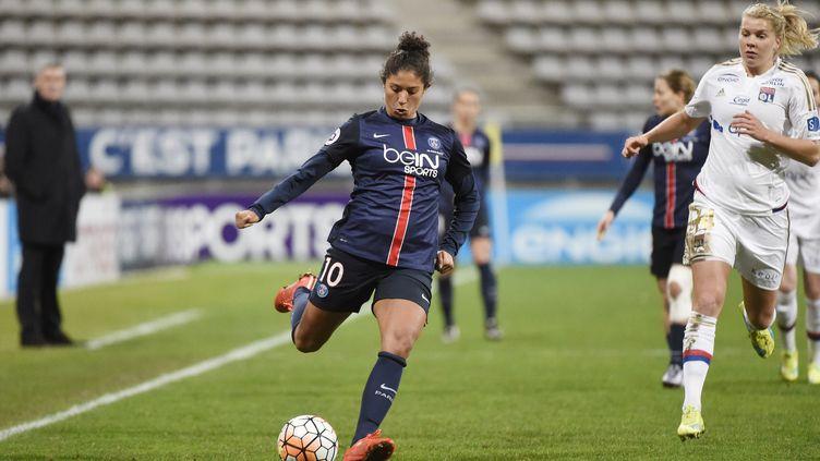 Cristiane, l'attaquant brésilienne du Paris Saint-Germain.  (JEAN MARIE HERVIO / DPPI MEDIA)