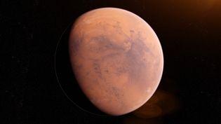 Illustration de la planète Mars réalisée le 18 décembre 2018. (SCIEPRO / SCIENCE PHOTO LIBRARY / SKU / AFP)