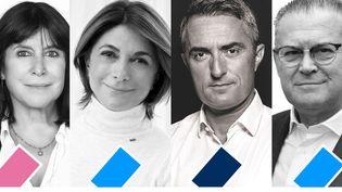 Les candidats pour le second tour des élections municipales 2020 à Marseille (Bouches-du-Rhône) : Michèle Rubirola, Martine Vassal, Stéphane Ravier et Bruno Gilles. (FRANCE3)