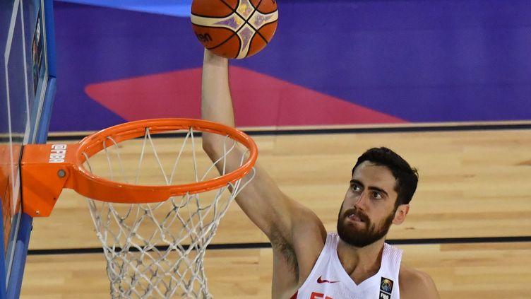 L'Espagne a pris le dessus sur la Roumanie (91-50) lors de l'EuroBasket 2017. (DANIEL MIHAILESCU / AFP)