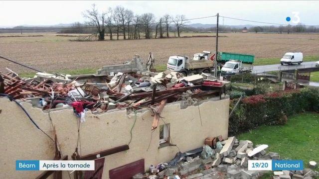 Pyrénées-Atlantiques : le village de Serres-Sainte-Marie se relève après la tornade