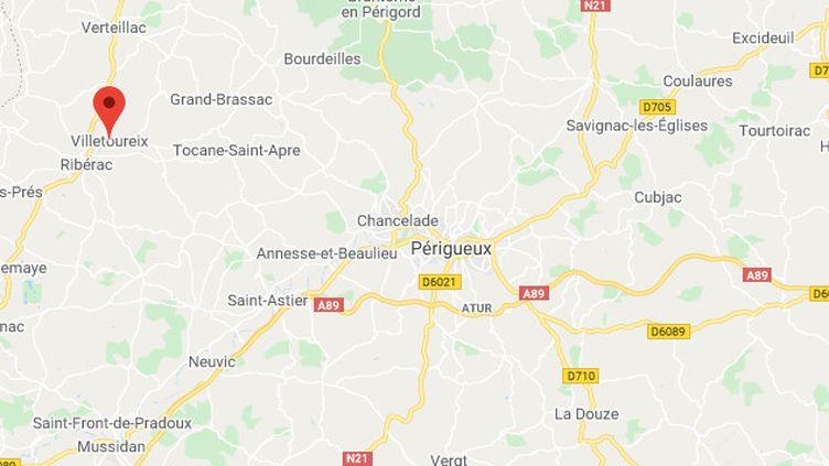 La commune de Villetoureix se trouve dans le département de la Dordogne. (GOOGLE MAPS / FRANCEINFO)