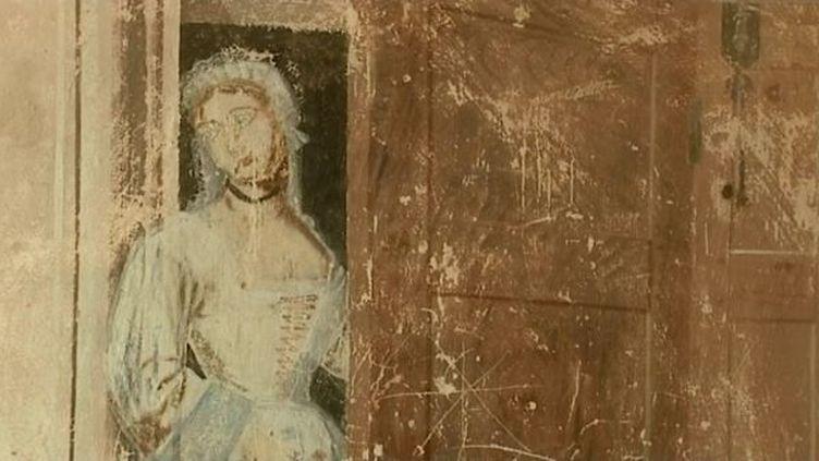 Fresques du château de Jarnioux datant du XVIIe siècle  (France3/Culturebox)