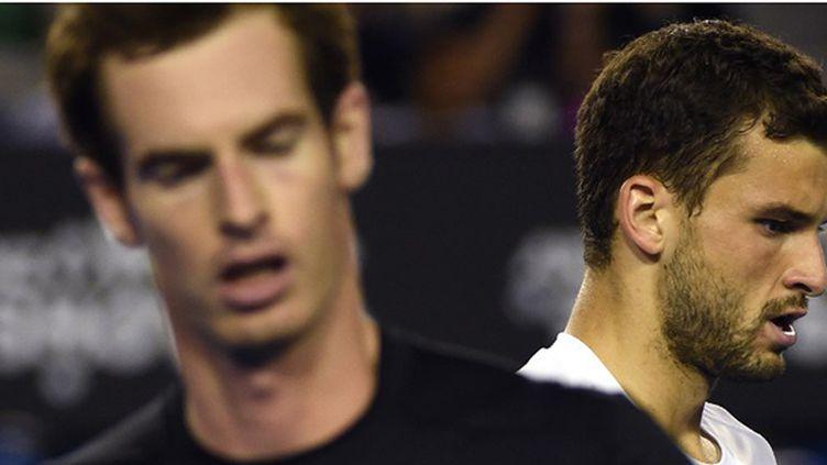 L'Ecossais Andy Murray (premier plan) et le Bulgare GrIgor Dimitrov