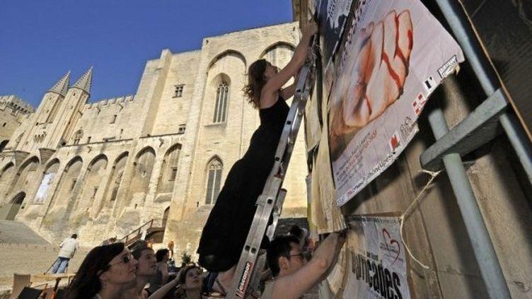 Préparatifs du festival d'Avignon. (ANNE-CHRISTINE POUJOULAT / AFP)