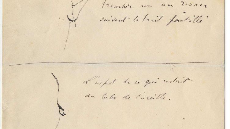 Lettre du docteur Félix Grey, datée du 18 août 1930, qui a pris en charge Vincent Van Gogh en 1888. (SIPA / AP)