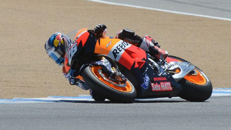 Dani Pedrosa lors des essais libres du GP des Etats-Unis (ROBYN BECK / AFP)