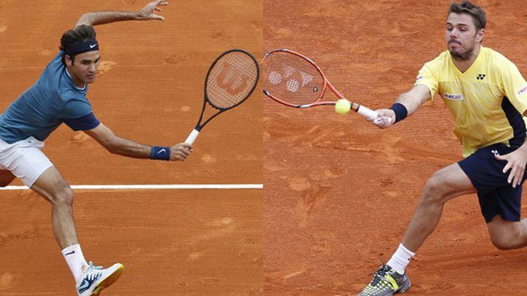 Roger Federer et Stan Wawrinka sur terre battue