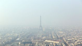 Paris, le 18 mars 2015, jour de pic de pollution, selon Airparif. (  MAXPPP)
