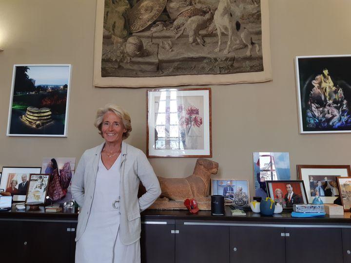 Caroline Cayeux, la maire de Beauvais, a écrit à la ministrede la Transition écologiquepour lui demander de prendre en compte l'intérêt des salariés de Spontex. (Sarah Tuchscherer / Franceinfo)