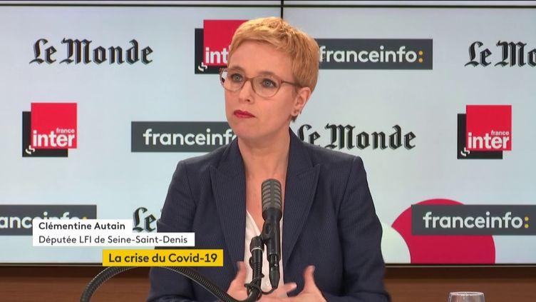 Clémentine Autain, députéeLa France insoumise de Seine-Saint-Denis, invitée de Questions politiques dimanche 7 février 2021. (FRANCEINFO / RADIOFRANCE)