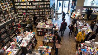 LaLibrairie de Paris (17e arrondissement) lors de la présentation du Pari des libraires, le 29 mai 2018  (Bruno Levesque / IP3 / Press / MaxPPP)